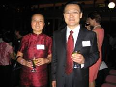 Lindy Chen with the Chinese Consul-General, Ren Gongping